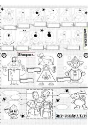 English Worksheet: numbers,shapes and family