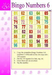 BINGO – NUMBERS (6/6)