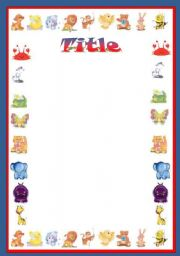 English Worksheets: Animal template