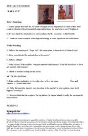 English Worksheets: ACTIVITY ABOUT THE MOVIE