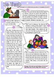 English Worksheets: To Be - Revision Work on To Be in Four Tenses, also suitable for False Beginners. 5 Pages plus detailed Answer Key.