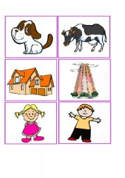 English Worksheets: who lives in...?