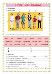 English Worksheets: Little Miss Sunshine video sheet