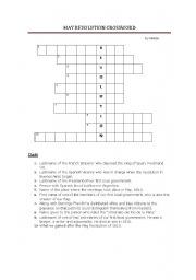 English Worksheet: 1810 Argentina�s May Revolution Crossword