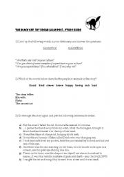 English Worksheet: The Black Cat - E.A Poe