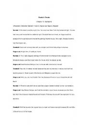 English worksheet: Reader´s Theater (ch 10 Stuart Little)