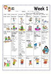Week 1 Lesson Plan For Summer Camp Esl Worksheet By Annyj