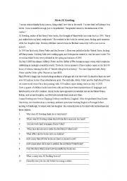 English Worksheets: Meet JK Rowling
