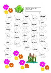 English Worksheets: HELP THE FROG