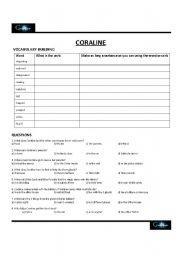 Quiz & Worksheet - Coraline Synopsis | Study.com