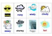 English Worksheets: Go FIsh Weather words card template