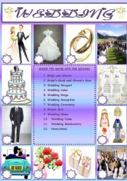 English Worksheet: WEDDING