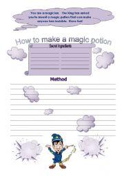 English Worksheets: How to make a magic potion