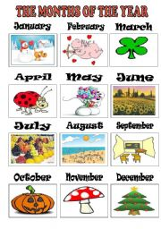 Vocabulary worksheets > Time > Months of the year > the months of the ...