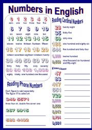 English Worksheets: numbers in english part I