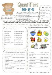 English Worksheet: SOME ANY NO exercises