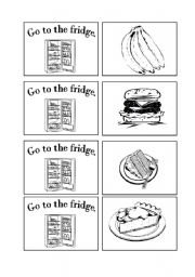 English Worksheet: Go the the Fridge: A