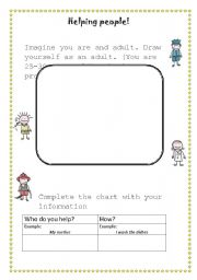 English worksheet: Helping people! - professions