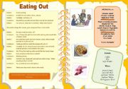 Eating out - menu - dialogue