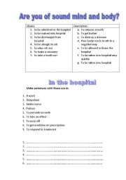 English Worksheets: are you of sound mind and body