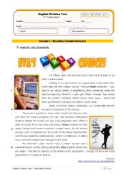 English Worksheet: World of Work - Eva�s Career Choices (+correction)
