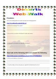 English Worksheets: Deserts