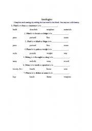 English Worksheets: anologie