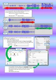 English Worksheets: tutorial AUDACITY - page 2