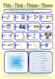 English Worksheet: Demonstratives: This, That, These or Those