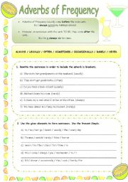 English Worksheets: ADVERBS OF FREQUENCY exercises