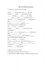 English Worksheet: Mr. Success by Frank Sinatra