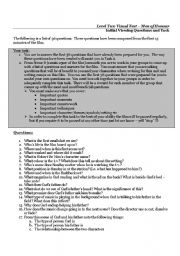 English Worksheets: Men of Honour - Viewing Questions and task