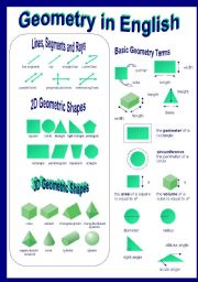 English Worksheets: geometry in english part IV