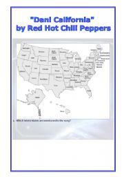 English Worksheet: Red Hot Chili Peppers: