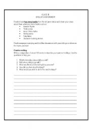 English Worksheets: English work sheet for class III