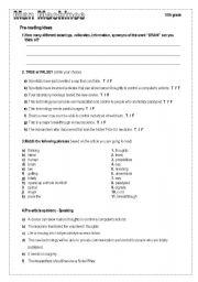 English worksheet: Man Machines