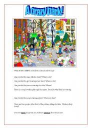 English Worksheet: A crazy park! (picture description)