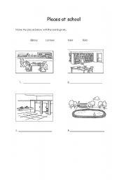 english worksheets places at school. Black Bedroom Furniture Sets. Home Design Ideas