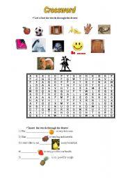 English worksheet: Crossword