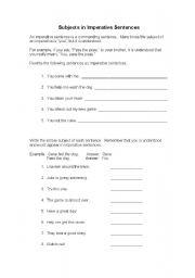 Imperative Sentences: Quiz &amp- Worksheet for Kids | Study.com