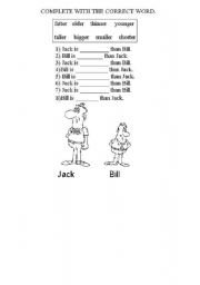 English Worksheets: compare these people