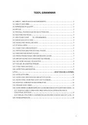 English Worksheets: toefl grammar