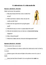 English Worksheet: Confessoins of a Shopaholic