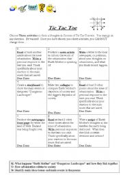 English Worksheets: Tic Tac Toe - Urbanization