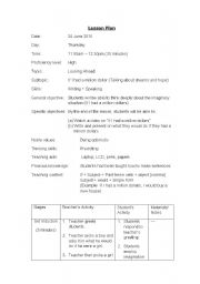 English teaching worksheets: Lesson plans