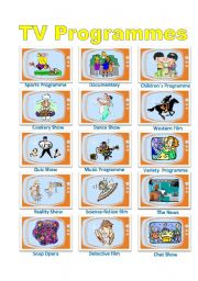 English Worksheets: TV Programmes Poster