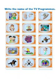 English Worksheets: TV Programmes Exercises - 2 pages