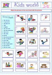 Kids world worksheet+ keys