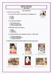 English Worksheet: Spanglish (Film - Key included)