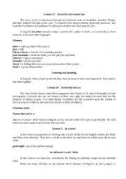 English Worksheets: Summary